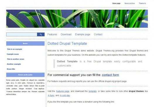 Dotted Drupal theme