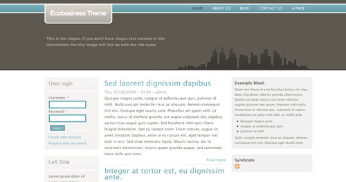 Ecobusiness Theme